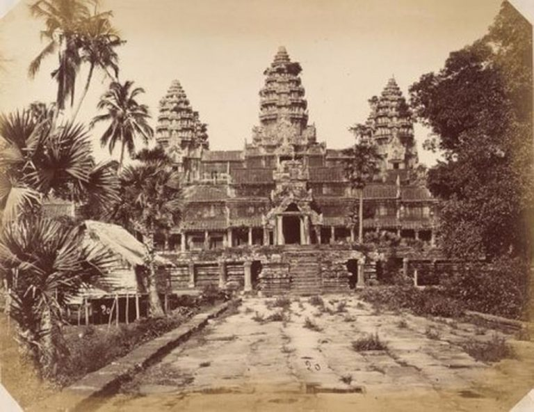 Photo of Angkor Wat Temple in 1866