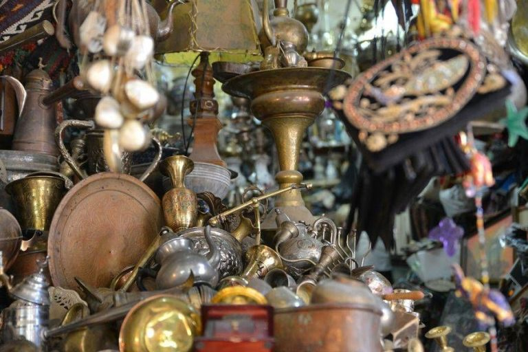 Antiques in the store