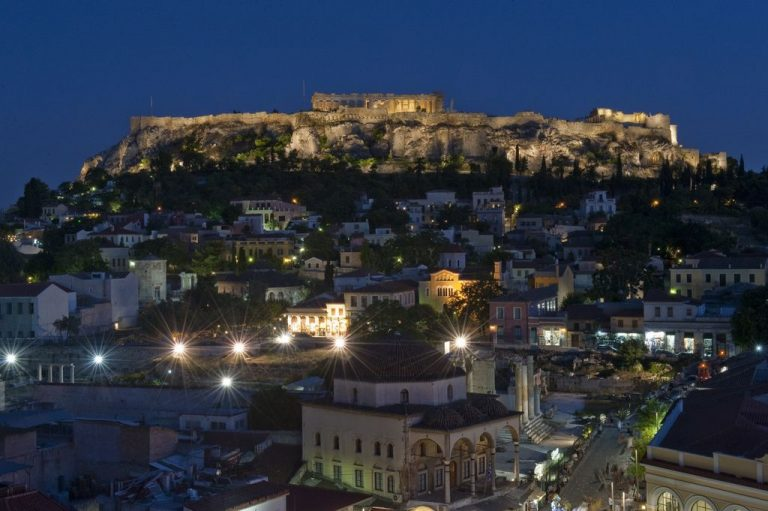 Athens in the evening