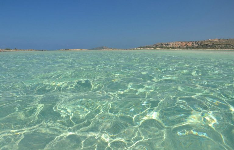 Clear water on the beach of Elafonisi