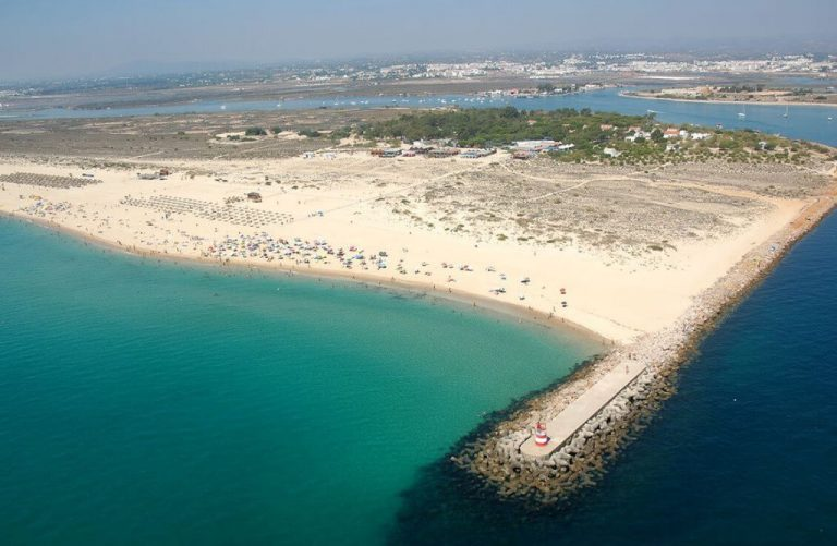 Beach on the island of Tavira