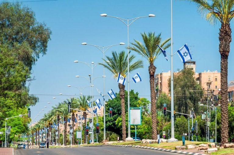 One of the streets of Be'er Sheva