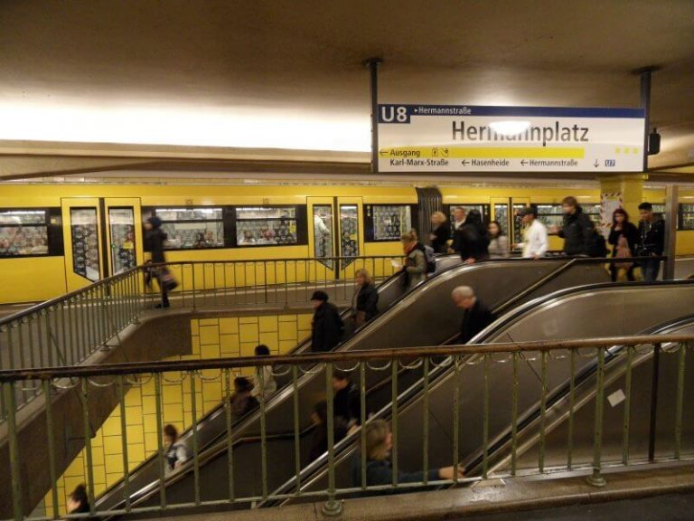Escalators in the subway