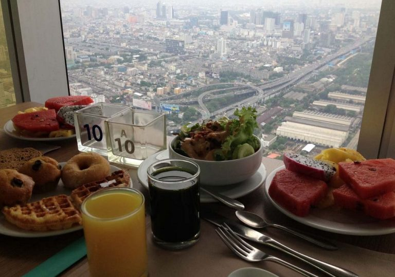 Breakfast at Baiyoke Sky Hotel