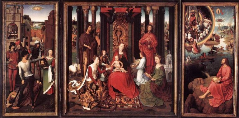 Hans Memling.  Altar of St. John from the Hospital of St. John