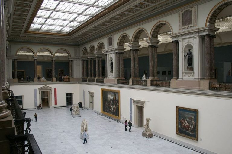 One of the halls of the Royal Art Museum in Brussels