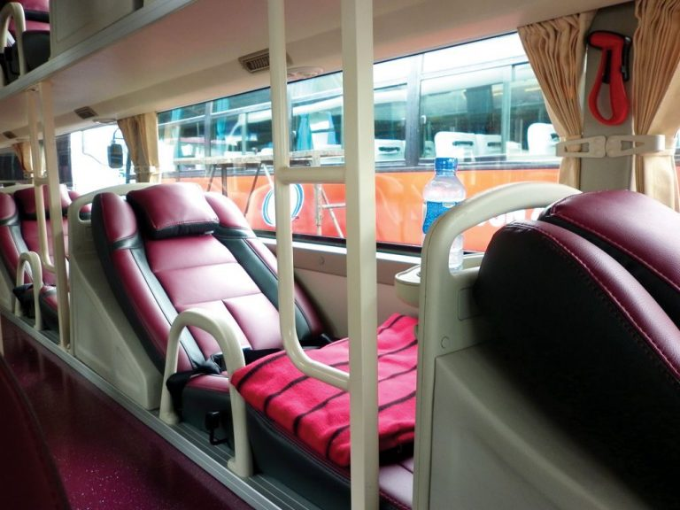 Photo: reclining chairs in the bus