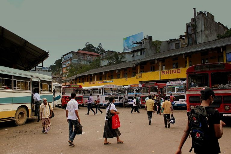 Bus station in Kandy
