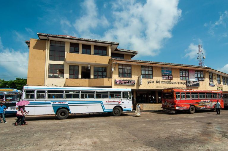 Photo: main bus station of the resort