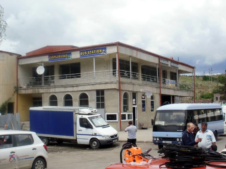 Bus station building in Akhaltsikhe
