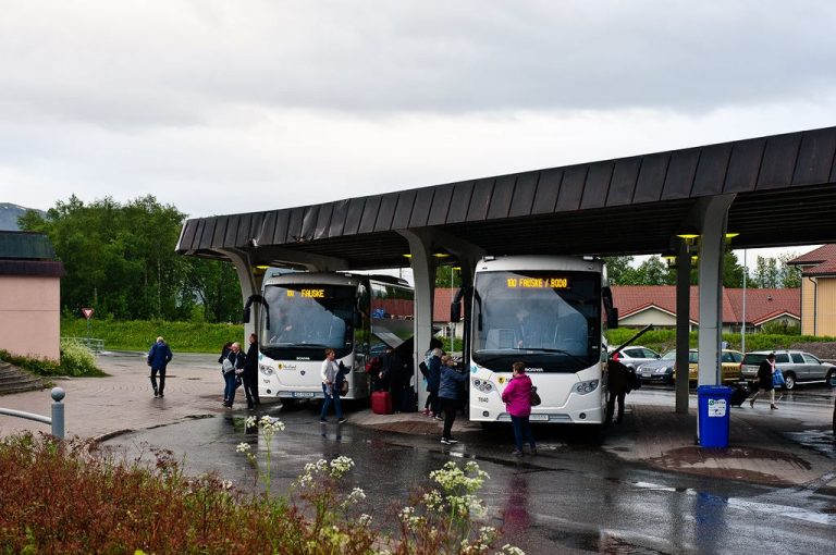 Bus station in Narvik