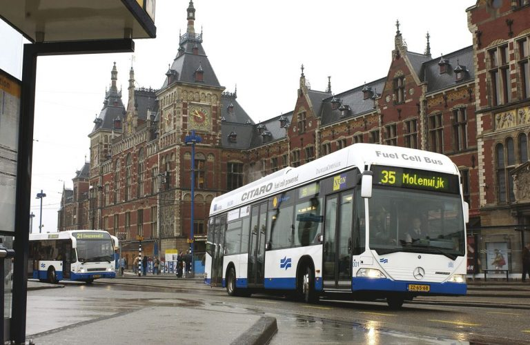 Buses in Amsterdam