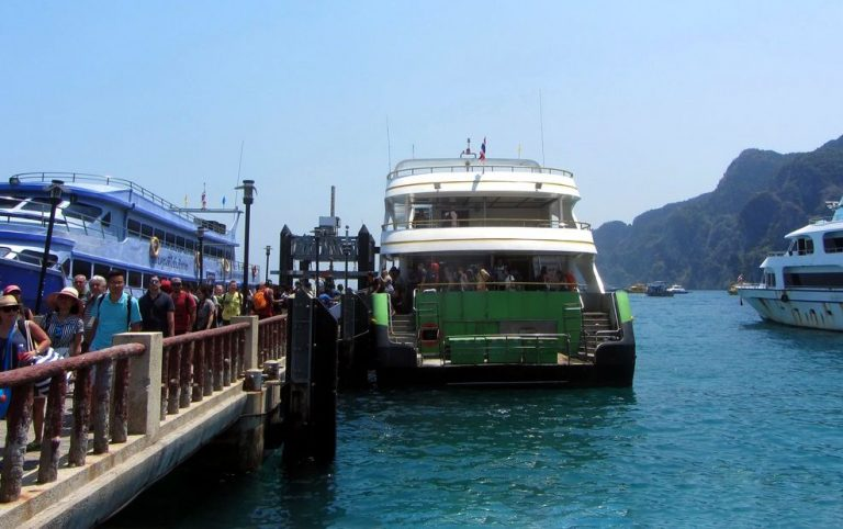 By ferry from Phuket