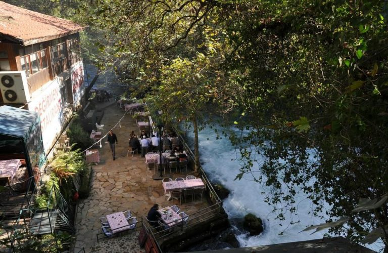 Cafe near the Upper Duden Waterfall