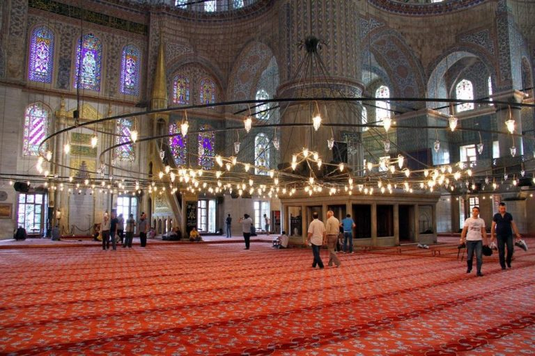 Carpets in the Blue Mosque