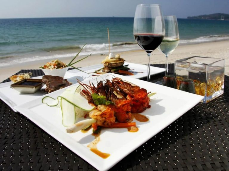 At a restaurant on the beach of Bang Tao