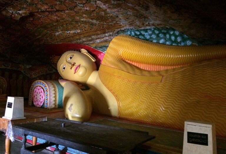 Reclining Buddha inside the temple