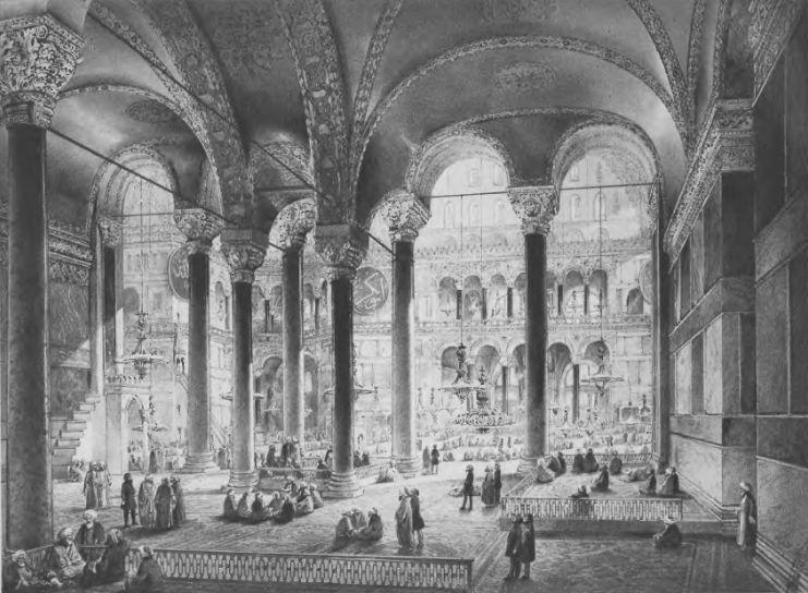 Central view of the north nave in 1852