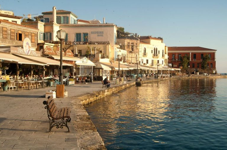 The promenade of the old city of Chania