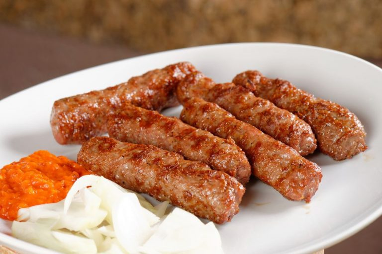Chevapchichi meat sausages