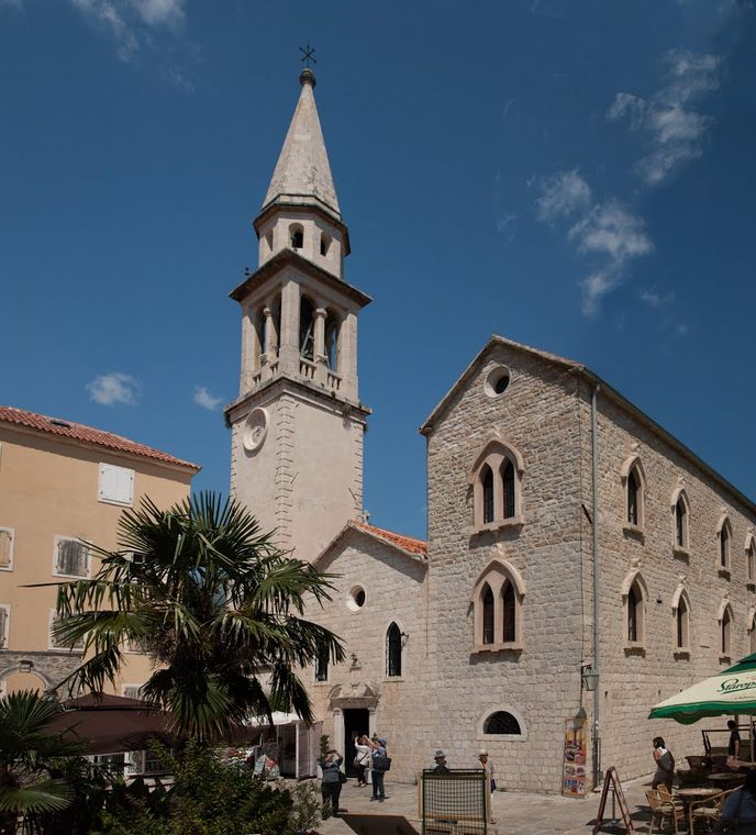 Attraction: church in the old part of Budva