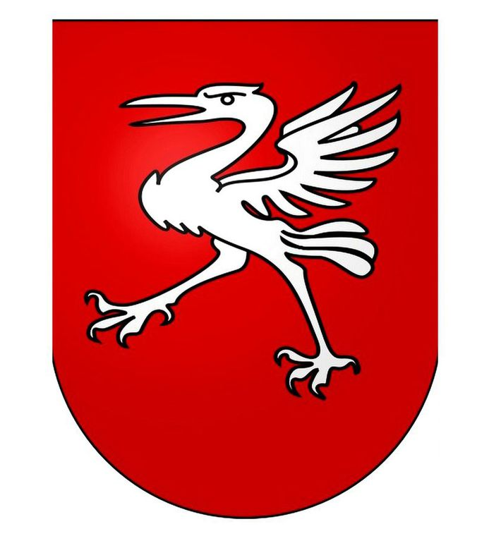 Coat of arms of the city of Gruyeres, Switzerland
