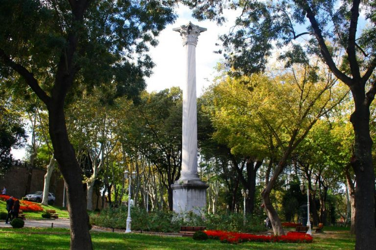 The column is ready in Gulhane Park
