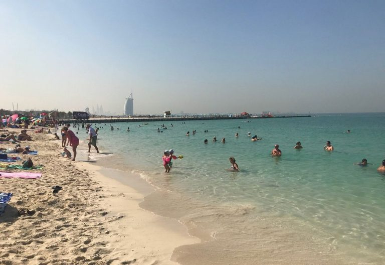 Comfortable weather for swimming in the Emirates