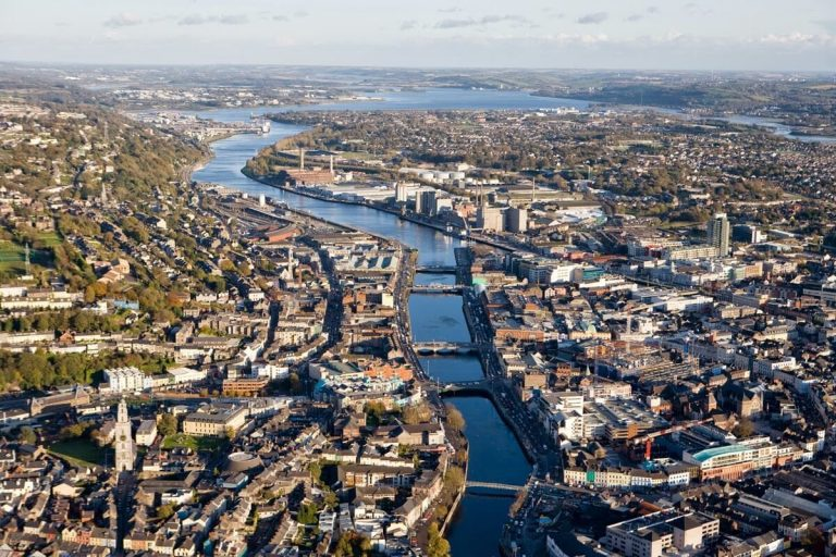 A huge amount of water in the city of Cork
