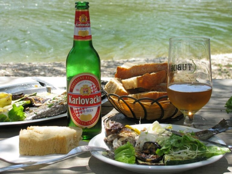 Lunch with Croatian beer