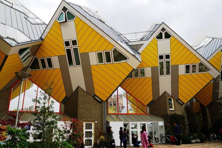 Cubic houses angled