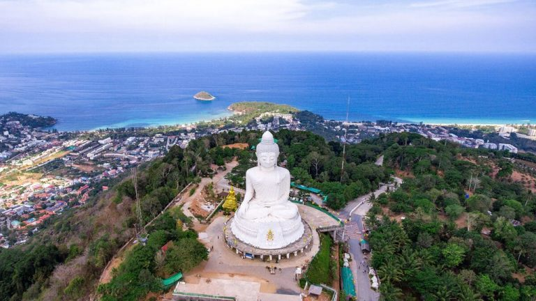 A view from the heights of the Big Buddha