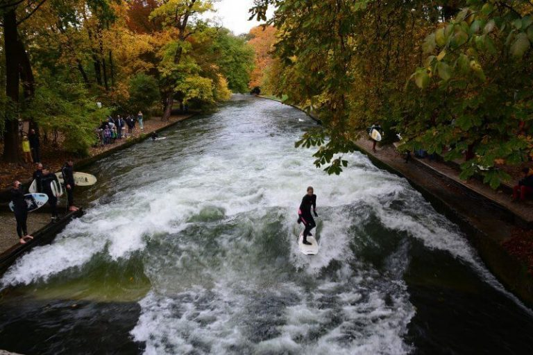 Surfing in the English Park