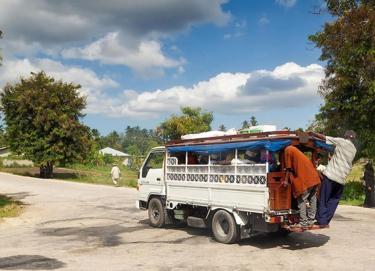 The main mode of transport in Tanzania is Dala-dala