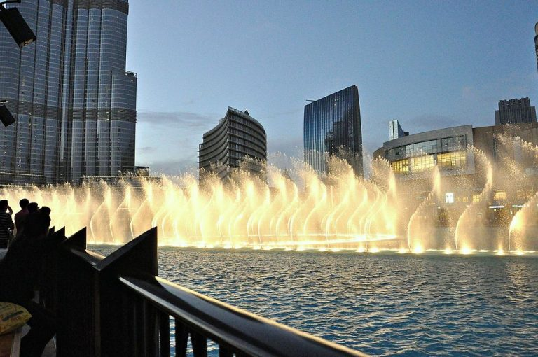 Dancing Music Fountain in Dubai