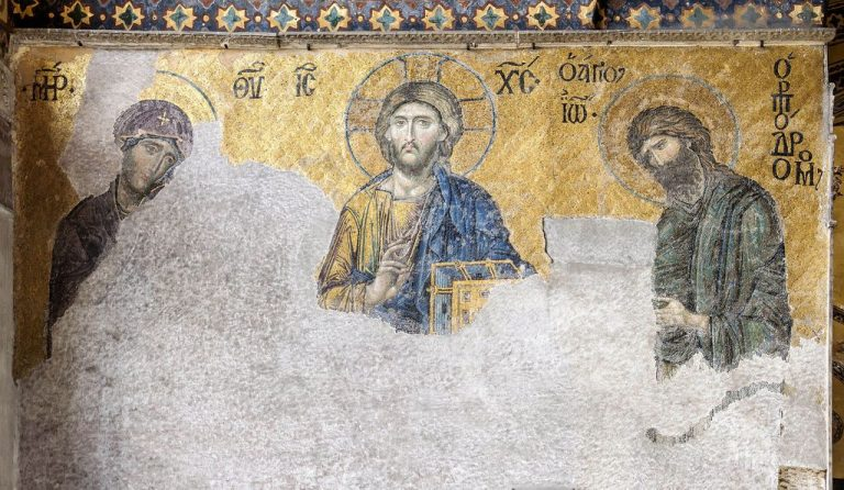 Work was carried out to restore mosaics and frescoes