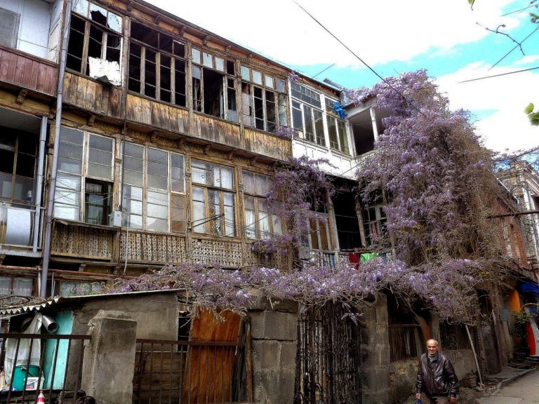 Decrepit buildings in Sololaki
