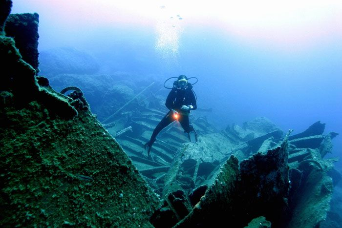 Diving near the city of Kas