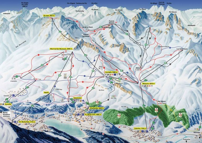 Routes for skiers
