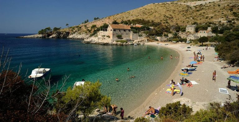 Holidays on the beach of the island of Hvar