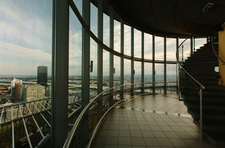 Observation deck behind the glass