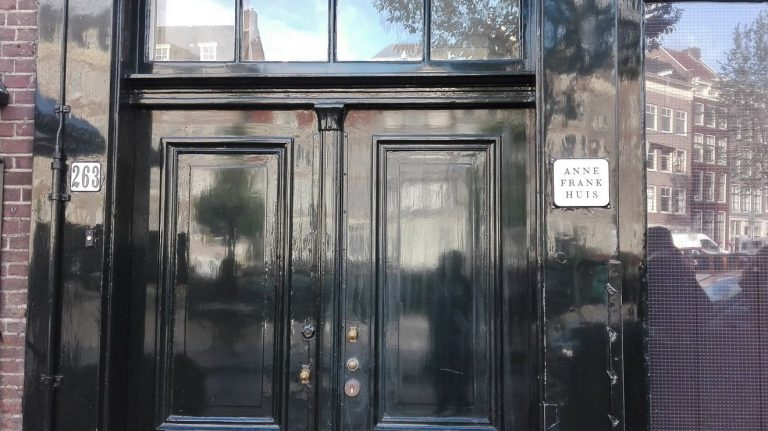 Entrance to Anne Frank House