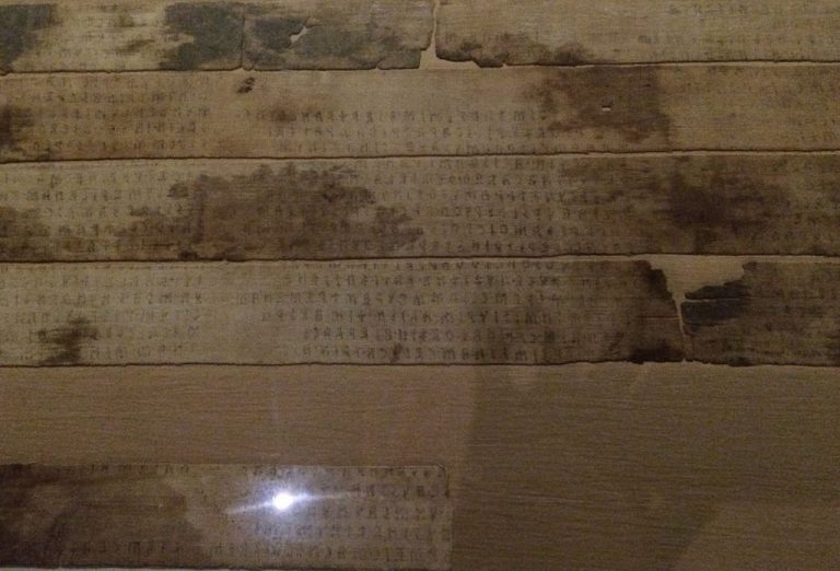 Etruscan letters in which the mummy was wrapped
