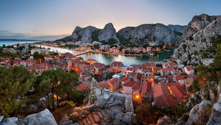 Evening Omis and the Cetina River