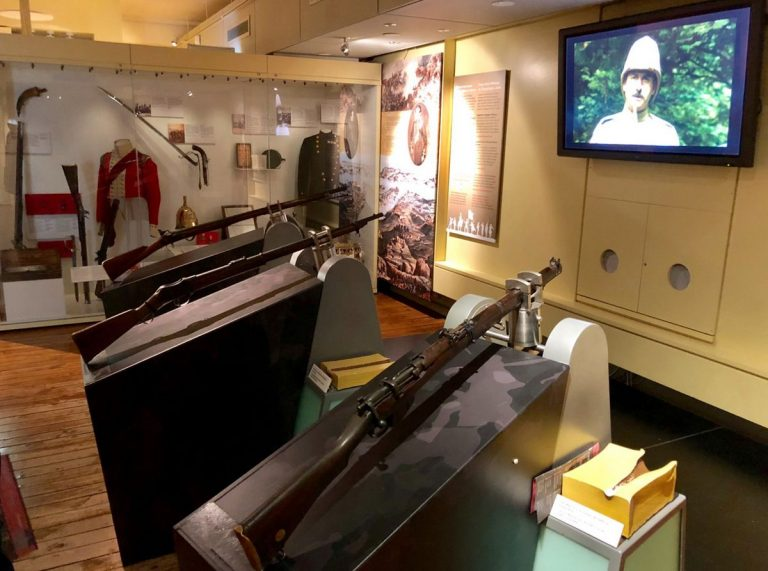 The museum presents the Irish army