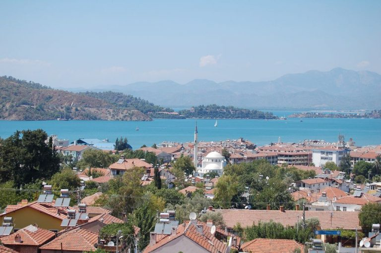 Fethiye off the coast of the bay
