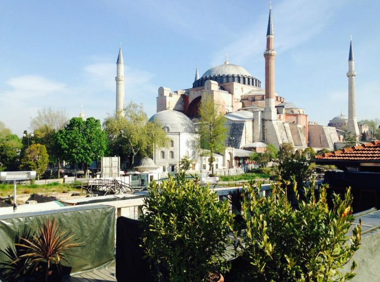 Beautiful panorama from the window of Four Seasons Hotel Istanbul at Sultanahmet