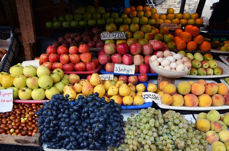 Fruit at the Deserter Market of Tbilisi