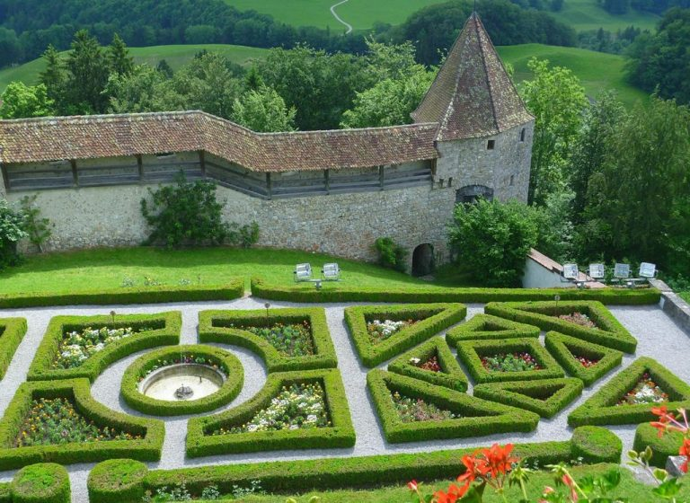 Gruyere Castle French Garden