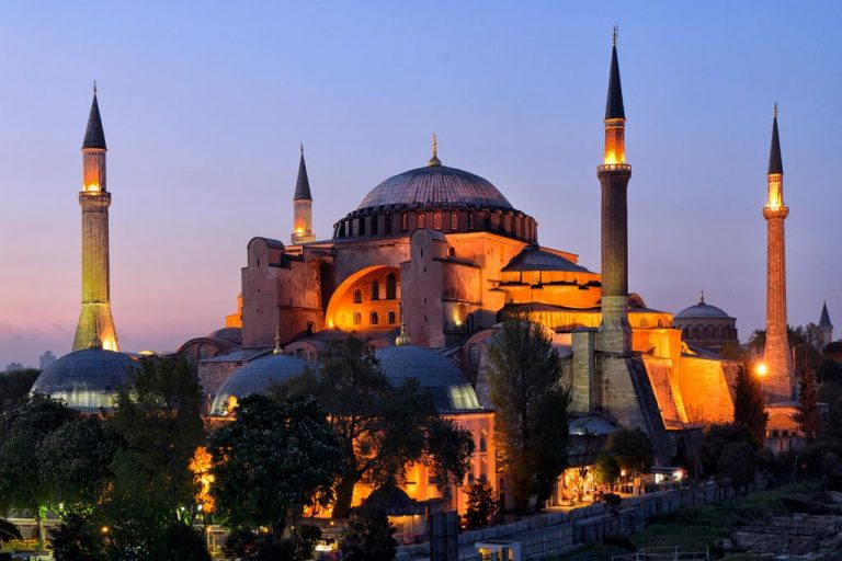 Hagia Sophia in the evening